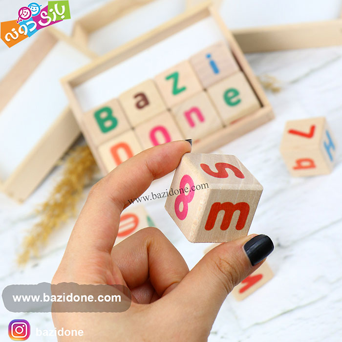 خرید مکعب چوبی حروف انگلیسی