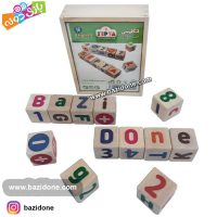 مکعب چوبی حروف و اعداد انگلیسی